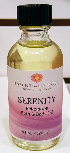 Body Oils-Skin Oils-essentially NOLA-4oz-Serenity-essentially NOLA