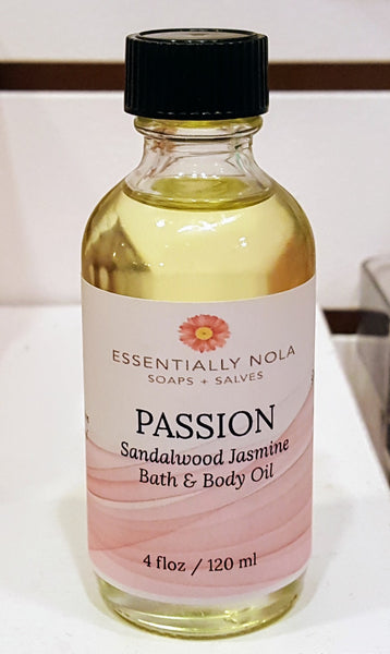 Body Oils-Skin Oils-essentially NOLA-4oz-Passion-essentially NOLA
