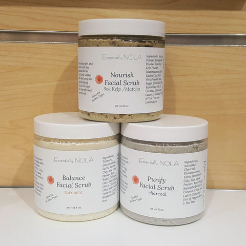 Rare Earth Whipped Facial Scrubs-Beauty & Personal Care-essentially NOLA-4 oz-Balance-essentially NOLA