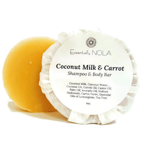 Coconut Milk & Carrot Shampoo Bar-Shampoo-essentially NOLA-essentially NOLA