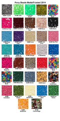 Pony Beads, Frosted/Matte Colors Pkg. 1000, 6x9mm