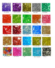 Pony Beads, Transparent Colors  Pkg 1000 beads, 6x9mm