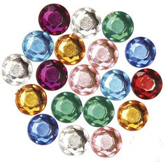 Acrylic Faceted Rhinestones 7mm