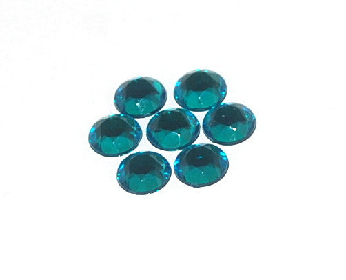 Rhinestones 7mm Round Emerald X630 007 (CLOSEOUT)