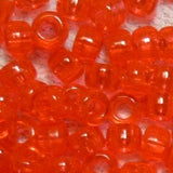 "Pony Beads, Barrel ""Crow"" Beads size 6 x 9mm Transparent Colors Pkg 1000 - Beadery Products"