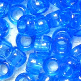 Beadery Pony Beads 6x9mm Transparent 1000 Pieces 750V