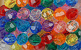 Faceted Beads 10mm Package 450 pieces 711V