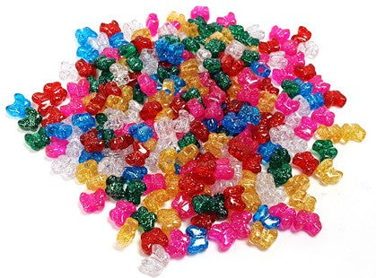 Butterfly Beads 13MM Sparkle Multi 450 Pieces 1179V-311