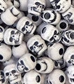 Skull Beads 13mm   Antique White 1180SV073A - Beadery Products