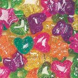 Pony Beads Mixed colors  Jelly Sparkle Multi 1/2 lb #1199SV467