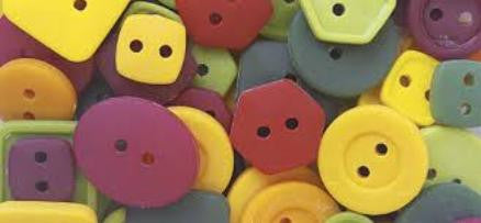 Craft Buttons Red/Green/Yellow 1/4 lb 1595W343