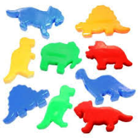 Dinosaur Beads Opaque Multi 1 lb  1683SV076