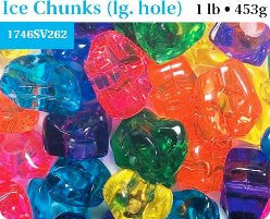 Ice Nuggets/Chunks Value Pack Bright Jelly Multi 25mm #1746SV262 - Beadery Products