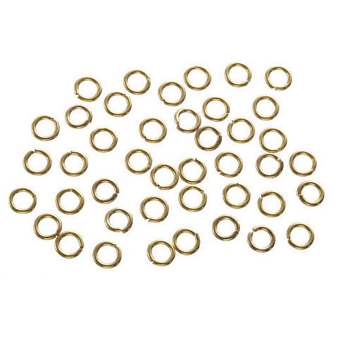 Brass Jump Rings Gold 7mm 120 Per Pkg 1880-99