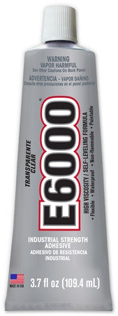 E6000® Glue, CLEAR, HIGH  Viscosity, 3.7 ounce tube - Beadery Products