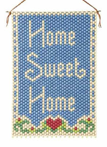 Beaded Banner Kit, Home Sweet Home #5067 - Beadery Products