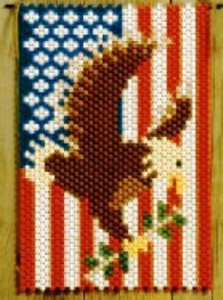 Beaded Banner Kit, American Pride #5189 - Beadery Products