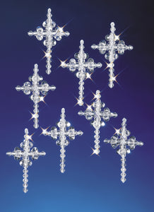 Beadery Holiday Ornament Kit Crystal Crosses #5536 - Beadery Products