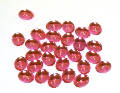 Acrylic Cabochons 10X8mm Oval Pink 50 Per Pkg 568-015