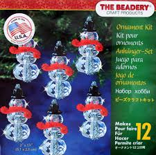 Beadery Holiday Ornament Kit Faceted Snowman #5978