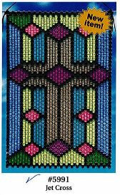 Beaded Banner Kit, Jet Cross #5991 - Beadery Products