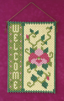 Beaded Banner Kit, Spring Flower #7106 - Beadery Products