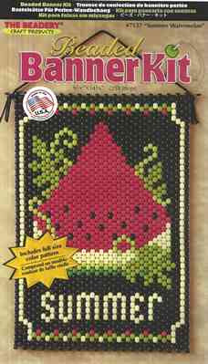 Beaded Banner Kit, Spring Watermelon  #7137