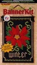 Beaded Banner Kit, Winter Poinsettia  #7139