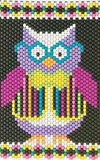 Beaded Banner Kit, Hootie Owl  #7238 - Beadery Products