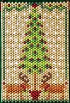 Beaded Banner Kit, Homespun Holiday  #7312 - Beadery Products