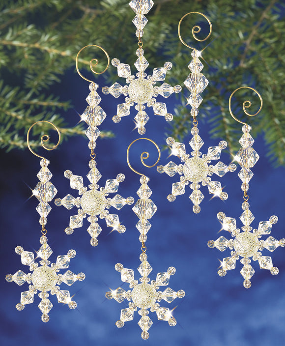 Beadery Holiday Ornament Kit Snow Crystal Dangler #7332 - Beadery Products