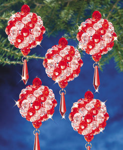 Beadery Holiday Ornament Kit Ruby & Crystal Ball #7460  (NEW)