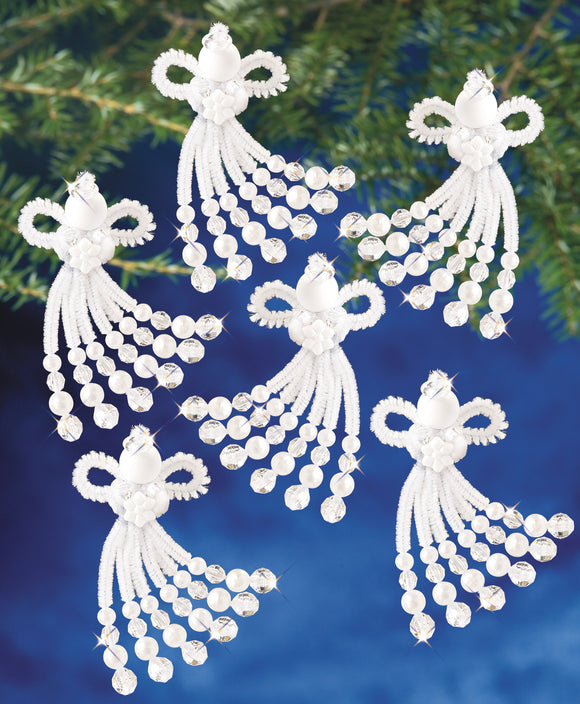 Beadery Holiday Ornament Kit Chenille Angel #7469  (NEW)