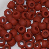 "Pony Beads, Barrel ""Crow"" Beads, 6 X 9mm, Frosted/Matte Colors - Beadery Products"