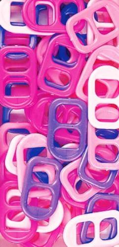 Soda Pop Tabs Plastic 16 X 25mm Pink Multi 125 Pieces 7623V151