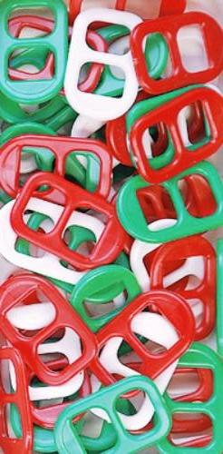 Soda Pop Tabs Plastic 16 X 25mm Christmas Multi 125 Pieces 7623V175