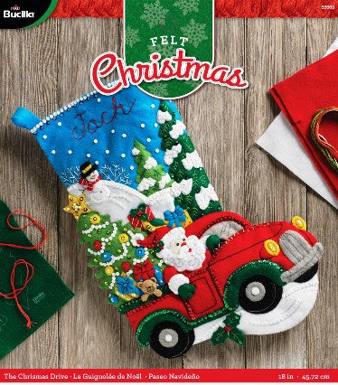 Felt Stocking Christmas Drive  86663I
