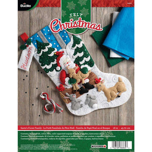 Felt Stocking Santa's Forest Family 86865