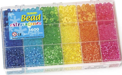 Bead Box Bead Extravaganza Bright Rainbow Mix 3600 Pieces 6234