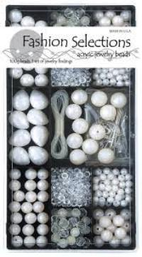 Crystal & Pearl Fashion Selection Bead Box 6465