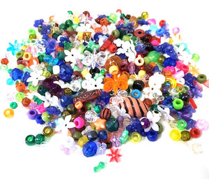 Mixed craft beads 1 lb, B100SV