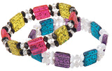 Slide Hammered Bead Adrenaline Multi  144 Pieces #1691SV563