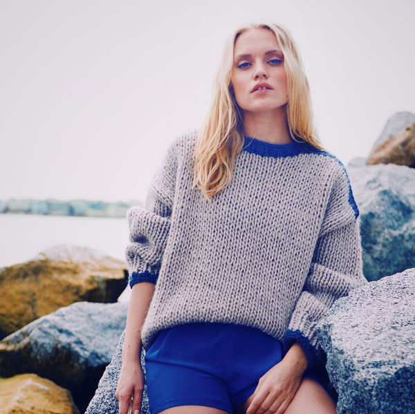 Colour blocked Camilla Jumper - CLUB KNIT