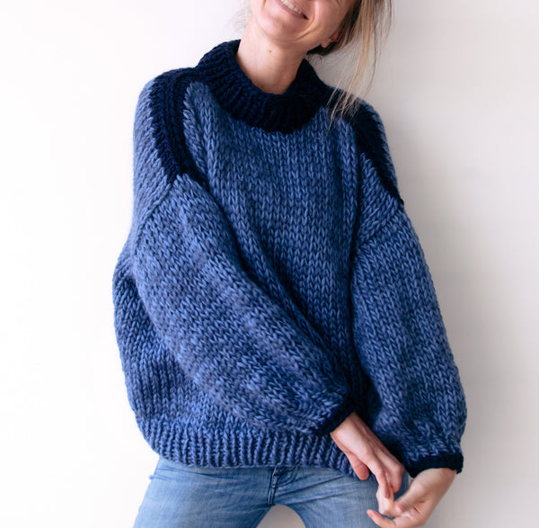 DIY x Colour Blocked Camilla Jumper - CLUB KNIT