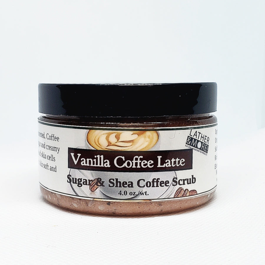 Vanilla Coffee Latte Sugar Scrub