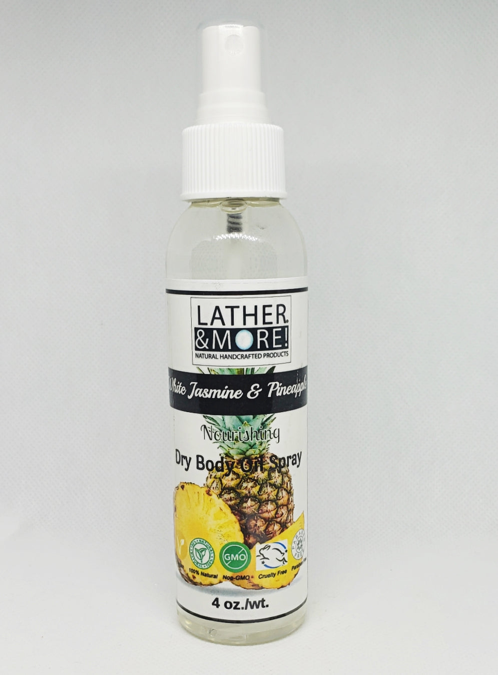White  Jasmine and Pineapple Dry Body Oil
