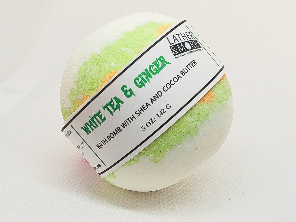 White Tea and Ginger Bath Ball