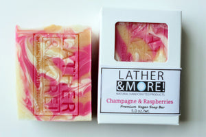 Champagne and Raspberries soap