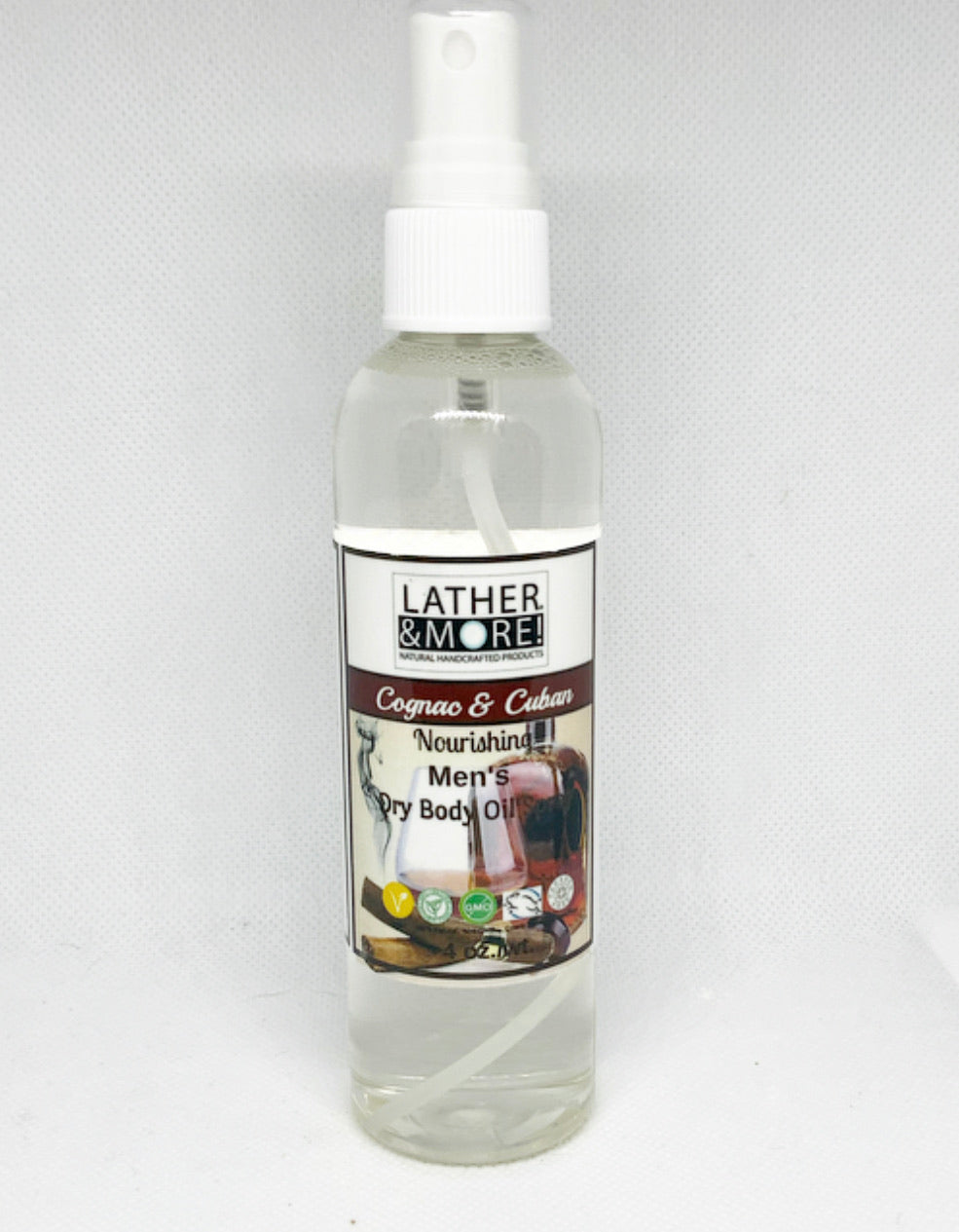 Cognac and Cuban Dry Body Oil