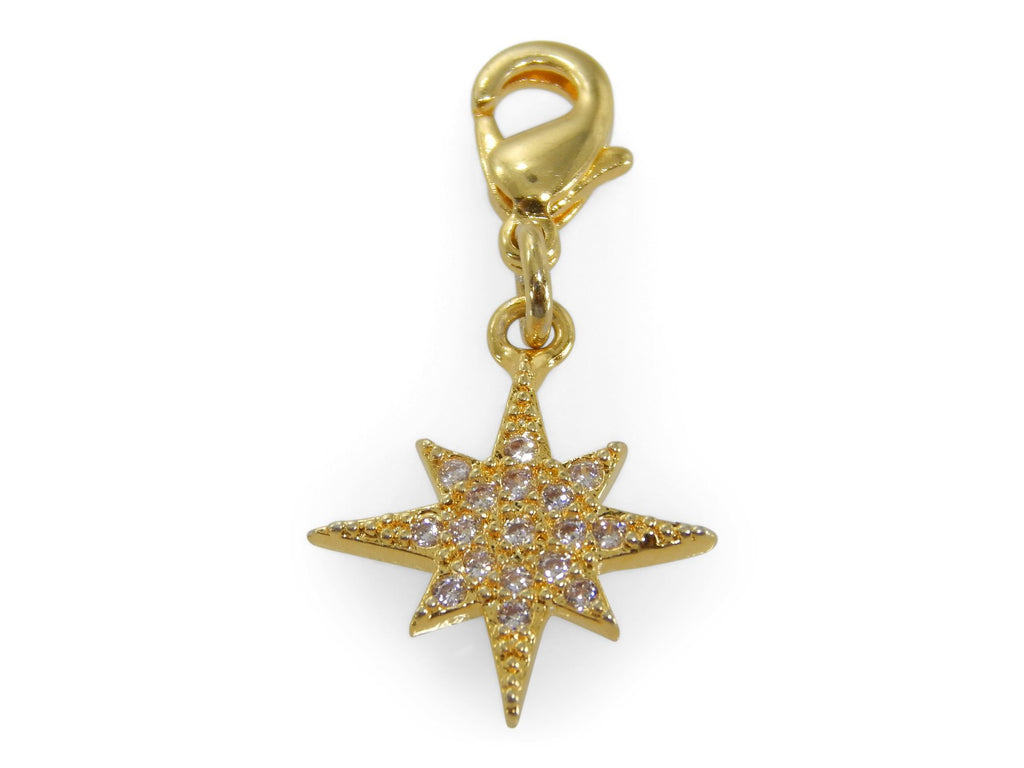 ERIMISH CHARMING COLLECTION HOLIDAY CHARM - GOLD STAR